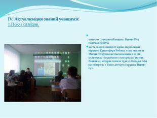 IV. Актуализация знаний учащихся. 1.Показ слайдов. Ви́нни-Пух́ (англ. Winnie