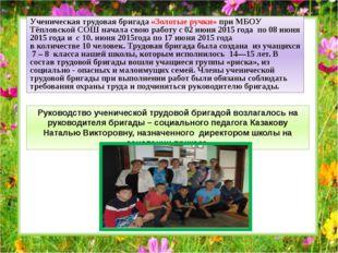 Ученическая трудовая бригада «Золотые ручки» при МБОУ Тёпловской СОШ начала