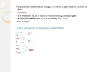В английском предложении всегда есть глагол, а в русском его может и не быть.