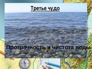 Третье чудо Прозрачность и чистота воды