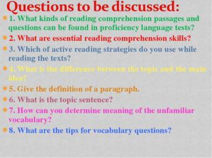 1. What kinds of reading comprehension passages and questions can be found in