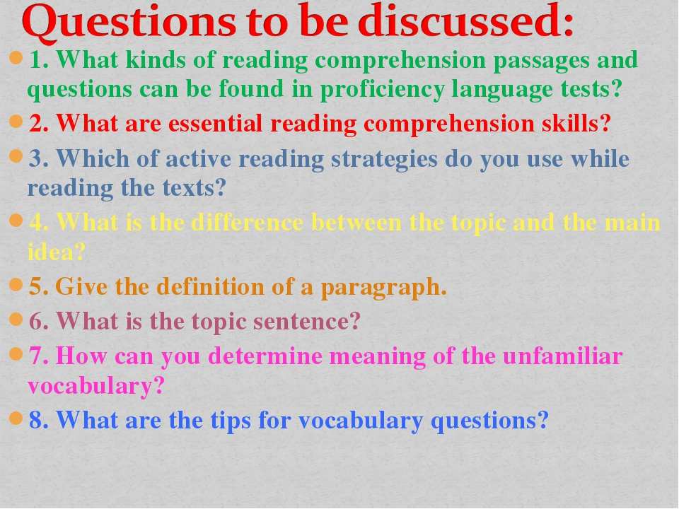 1. What kinds of reading comprehension passages and questions can be found in...