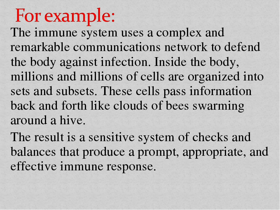 The immune system uses a complex and remarkable communications network to def...
