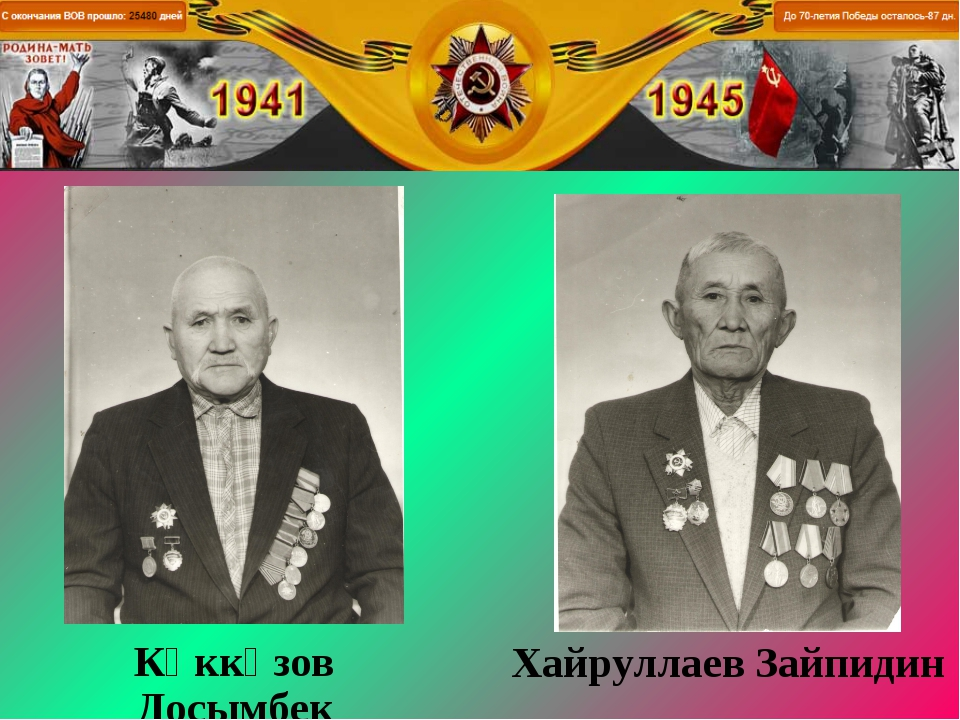 Көккөзов Досымбек Хайруллаев Зайпидин