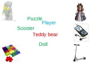 Puzzle Teddy bear Player Scooter Doll