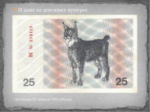 И даже на денежных купюрах Литовские 25 талонов 1991 г.Реверс