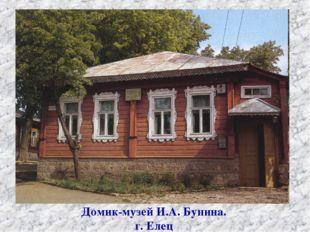 Домик-музей И.А. Бунина. г. Елец