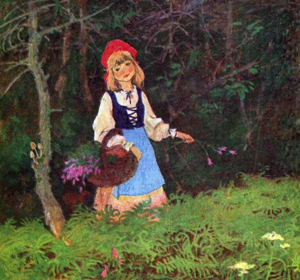 Красная Шапочка идет к бабушке
