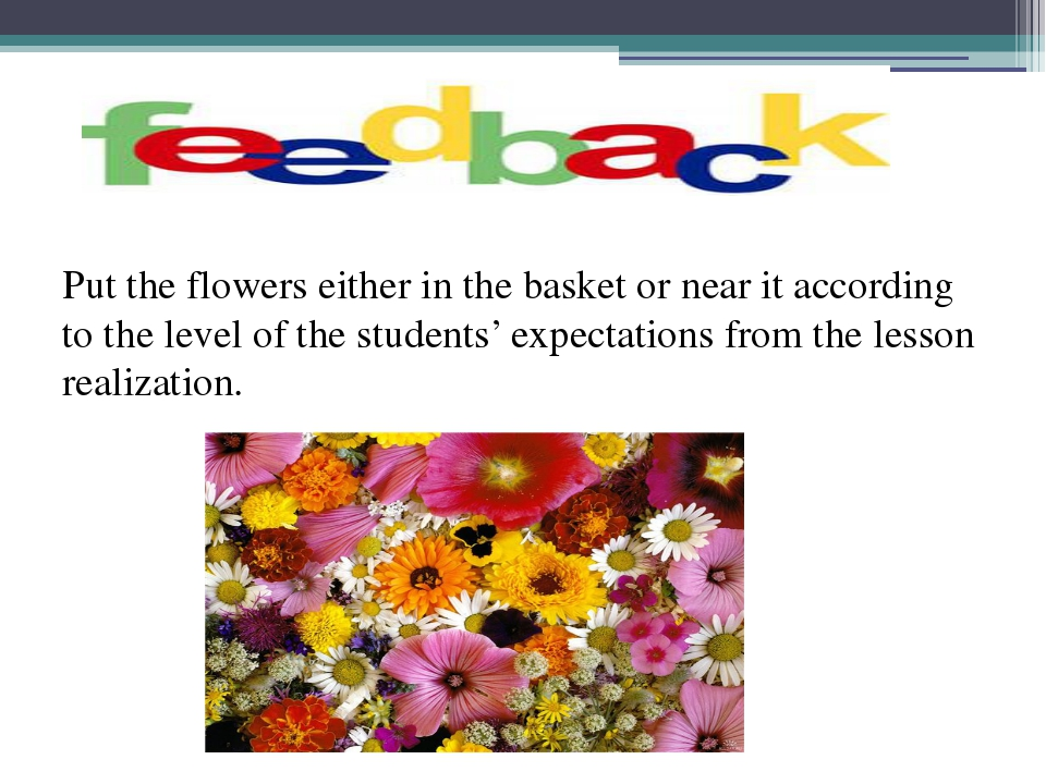 Put the flowers either in the basket or near it according to the level of th...