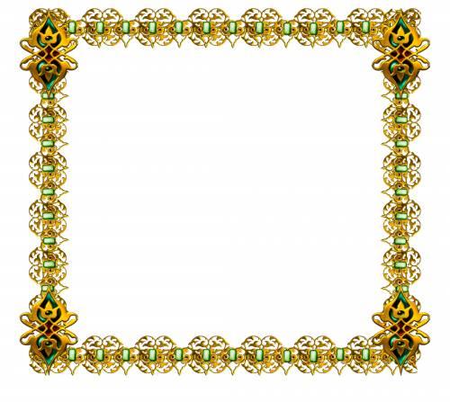 Квадратная рамка. Желто-зеленая