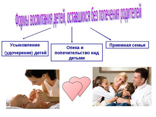 Усыновление (удочерение) детей Опека и попечительство над детьми Приемная семья