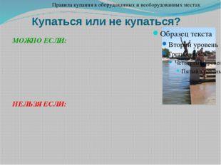 Купаться или не купаться? Правила купания в оборудованных и необорудованных м