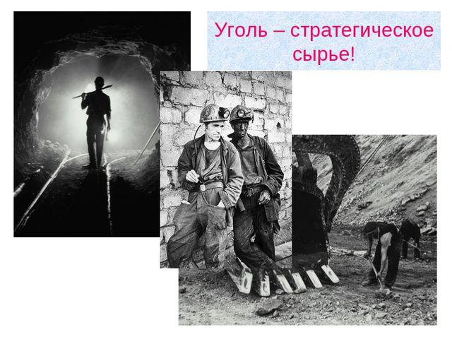 Уголь – стратегическое сырье!