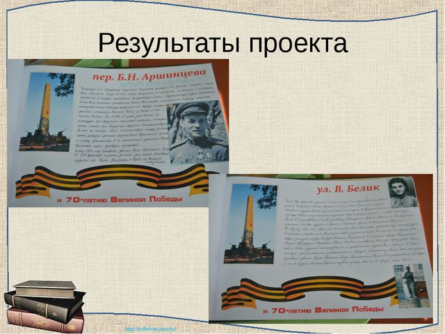 Результаты проекта http://ku4mina.ucoz.ru/