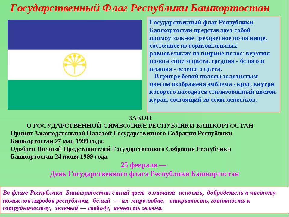 Государственный Флаг Республики Башкортостан Государственный флаг Республики...