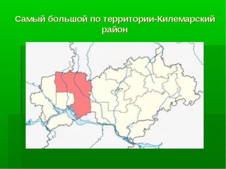 Самый большой по территории-Килемарский район