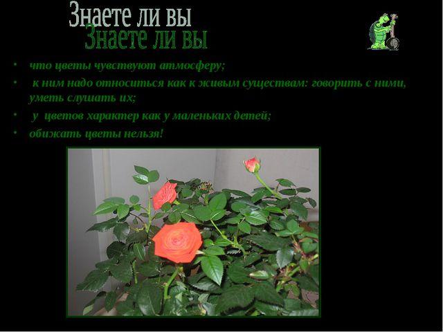 что цветы чувствуют атмосферу; к ним надо относиться как к живым существам: г...