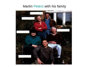 Martin Peters with his family