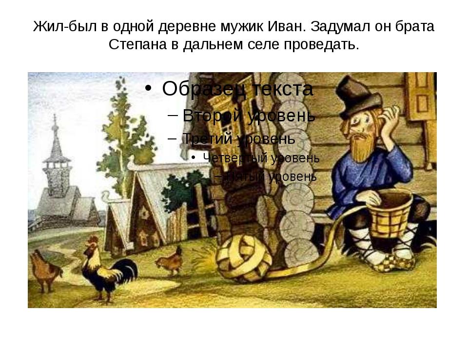 Жил-был в одной деревне мужик Иван. Задумал он брата Степана в дальнем селе п...
