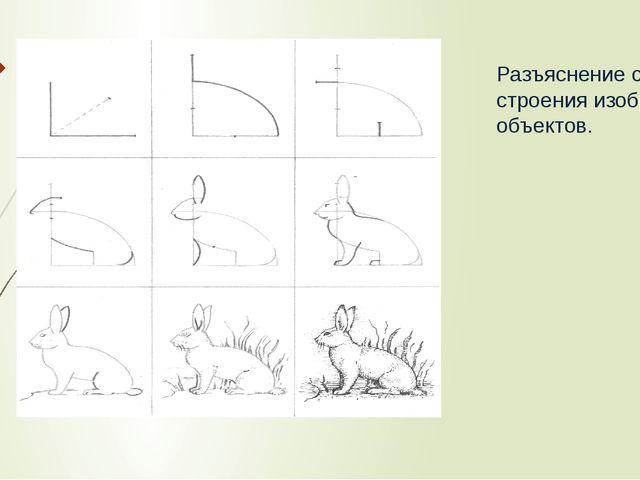 Разъяснение сущности строения изображаемых объектов.