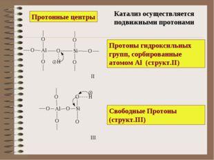Протоны гидроксильных групп, сорбированные атомом Al (структ.II) Свободные Пр
