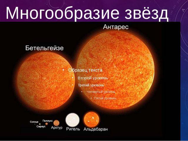 Многообразие звёзд