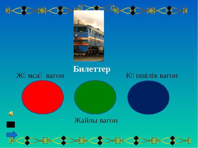 Жұмсақ вагон Жайлы вагон Көпшілік вагон Билеттер