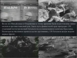 Возле сёл Михайловки и Озеряновки к этому времени были подготовлены линия ок