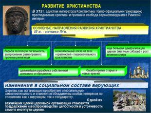 В 313 г. эдиктом императора Константина I было официально прекращено преследо