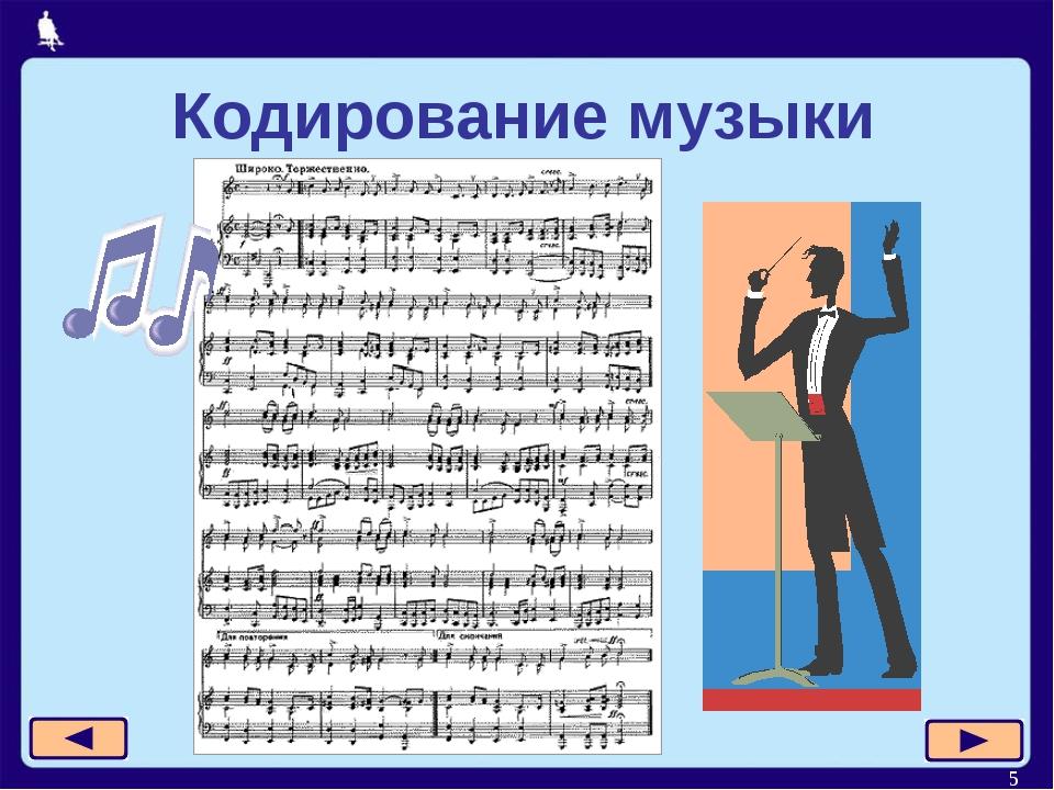 * Кодирование музыки