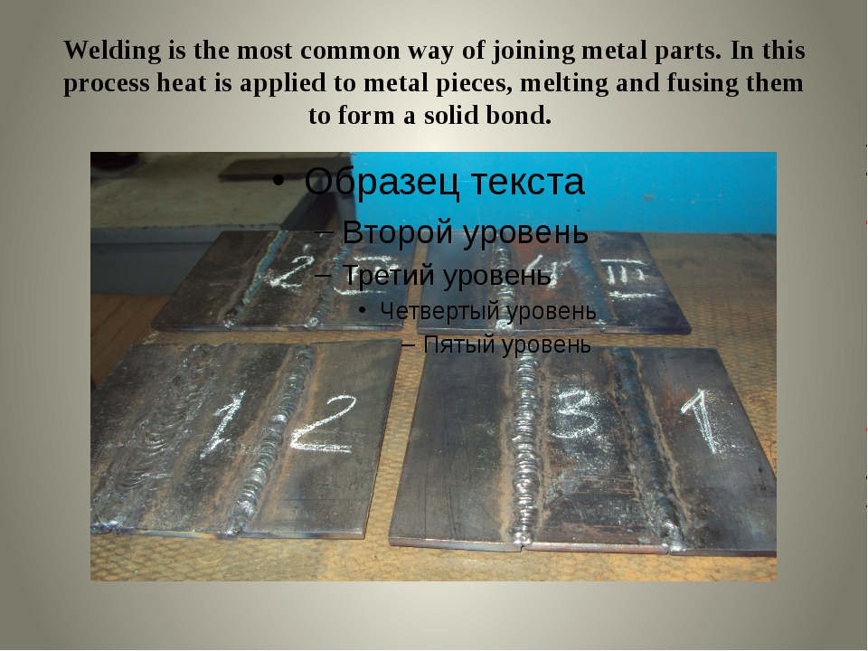 Welding is the most common way of joining metal parts. In this process heat i...