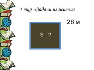 4 тур «Задачи из жизни» 28 м S - ?