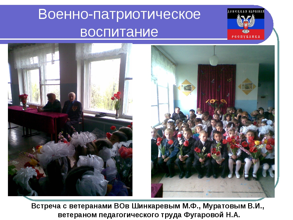Военно-патриотическое воспитание Встреча с ветеранами ВОв Шинкаревым М.Ф., Му...