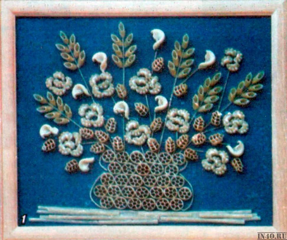 Поделки для кухни своими руками из макарон 26