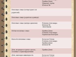 СОЦИАЛЬНЫЙ ПАСПОРТ 1 – Б КЛАССА (по категориям) Категория Ф.И. обучающегося