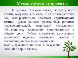 На уроках русского языка, литературного чтения, окружающего мира, ИЗО ребята