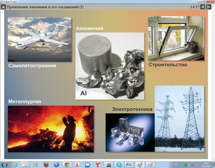 План-конспект урока тема: Алюминий и его соединения
