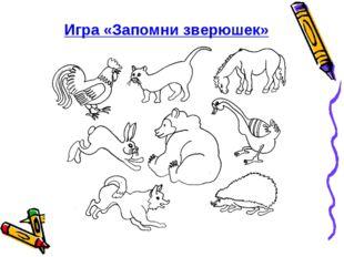 Игра «Запомни зверюшек»