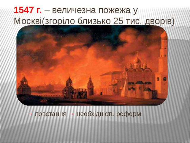 Реформи Івана Грозного (реформи середини XVI ст.) 1549 г. Реформа верховної...
