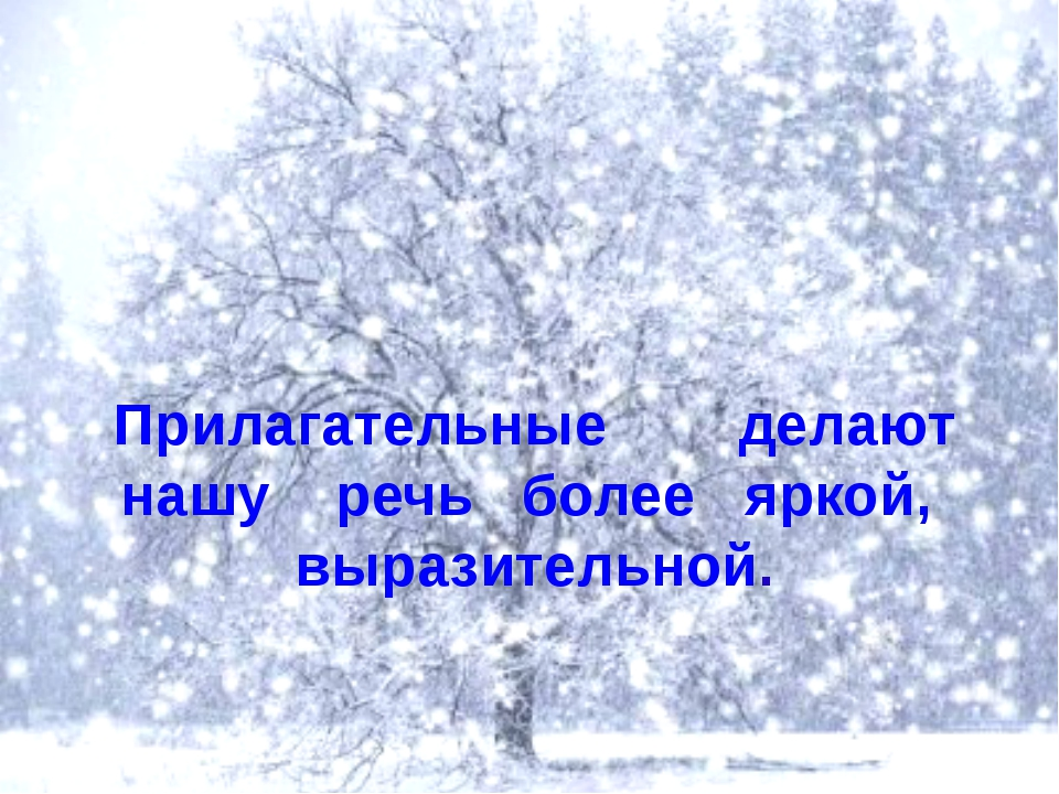 Пушистый снег укрыл землю белым одеялом. прил. сущ. гл. прил.