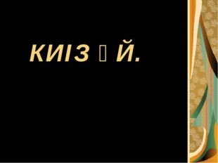 КИІЗ ҮЙ.