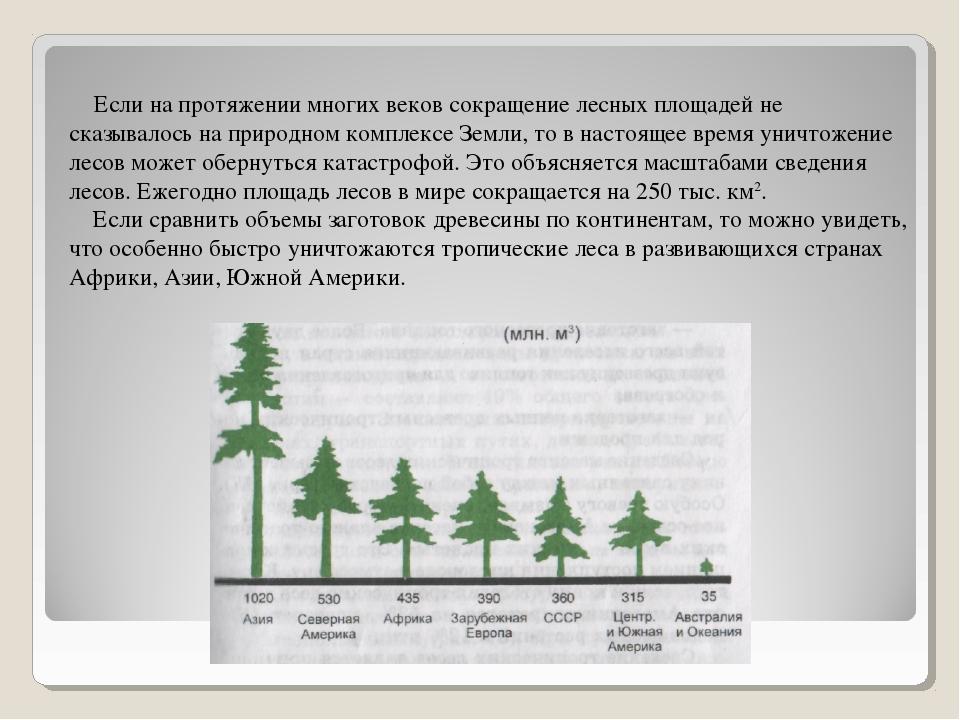 Если на протяжении многих веков сокращение лесных площадей не сказывалось на...
