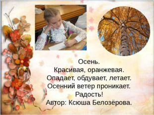 Осень. Красивая, оранжевая. Опадает, обдувает, летает. Осенний ветер проника
