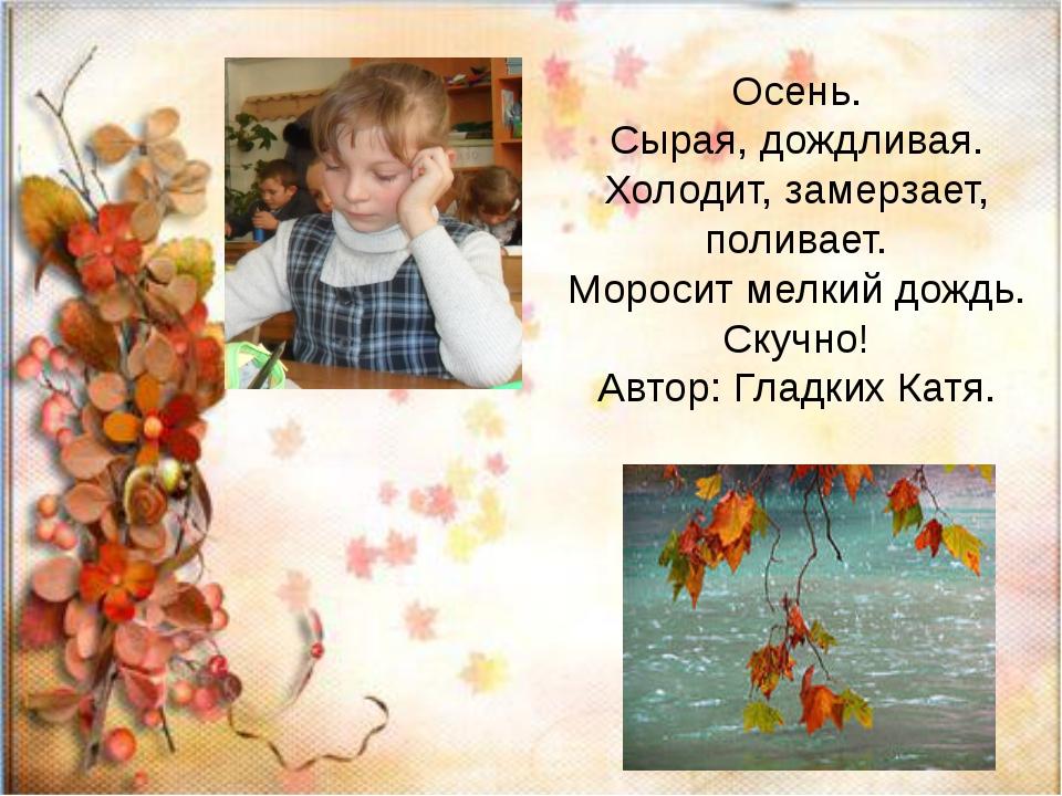 Осень. Сырая, дождливая. Холодит, замерзает, поливает. Моросит мелкий дождь....