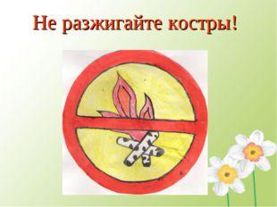 Не разжигайте костры!