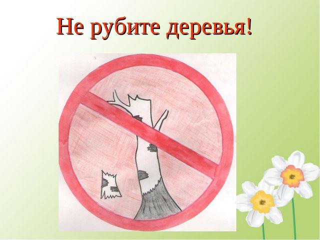 Не рубите деревья!