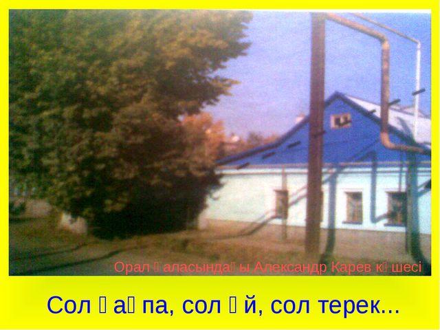 Орал қаласындағы Александр Карев көшесі Сол қақпа, сол үй, сол терек...