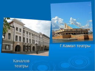 Качалов театры Г.Камал театры