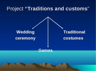 """Project """"Traditions and customs""""  Wedding Traditional ceremonycostu"""