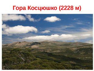 Гора Косцюшко (2228 м)